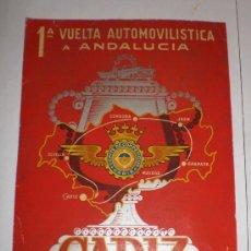 Coleccionismo de carteles: INTERESANTE CARTEL 1ª VUELTA AUTOMOVILISTICA A ANDALUCIA, CADIZ - SEPTIEMBRE - 1954 (ORIGINAL). Lote 31951312