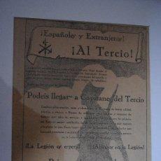 Coleccionismo de carteles: 1920.- CARTEL DE ENGANCHE A LA LEGIÓN ESPAÑOLA ¡LA LEGIÓN OS ESPERA! ¡ALISTAOS EN LA LEGIÓN!. Lote 32226977