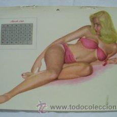 Coleccionismo de carteles: POSTER : PIN - UP MARCH 1949. DISEÑO AL MOORE. CALENDARIO ESQUIRE GIRL. Lote 32487280