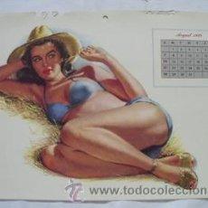 Coleccionismo de carteles: POSTER : PIN - UP AUGUST 1949. DISEÑO AL MOORE. CALENDARIO ESQUIRE GIRL. Lote 32487432