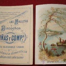 Coleccionismo de carteles: 2 ANUNCIOS POSTALES ORIGINALES DE PRINCIPIOS DEL XX - GALLETAS Y BIZCOCHOS VIÑAS Y COMPAÑIA . Lote 32605957
