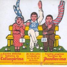 Coleccionismo de carteles: CARTEL - PUBLICIDAD FARMACIA DE BAYER CAFIASPIRINA -JUEGO DE LAS ARANDELAS . Lote 32660301