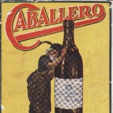 Coleccionismo de carteles: CONTRAPORTADA RECORTADA REVISTA COÑAC CABALLERO JEREZ FRONTERA DE LUIS CABALLERO PRINCIPIOS S XX. Lote 33589933