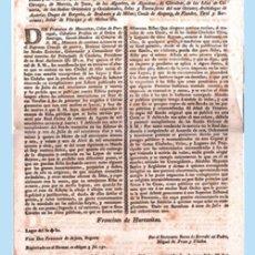 Coleccionismo de carteles: 1801.- CARTEL ANUNCIADOR DEL GOBERNADOR DEL PRINCIPADO DE CATALUÑA EN NOMBRE DEL REY CARLOS IV.. Lote 33610464