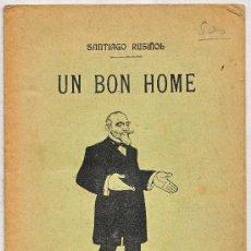 Coleccionismo de carteles: MONOLOGO ESCRITO DE SANTIAGO RUSIÑOL EN CATALAN 1909. Lote 229146650