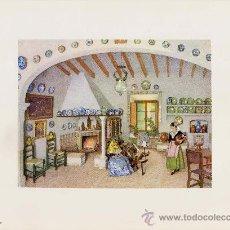 Collectionnisme d'affiches: INTERIOR DE CASA MALLORQUINA DE ERWIN HUBERT. Lote 34253170