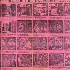 Coleccionismo de carteles: AUCA ALELUYA DE POBLET. Lote 124003342
