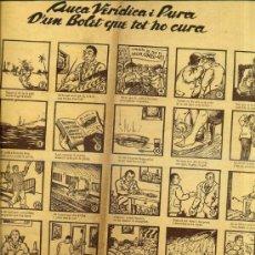 Coleccionismo de carteles: AUCA ALELUYA VERÍDICA I PURA D'UN BOLET QUE TOT HO CURA. Lote 34370295