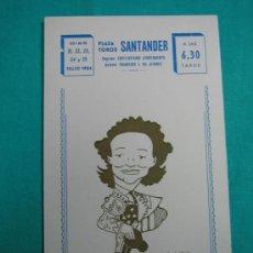 Coleccionismo de carteles: C PLAZA DE TOROS DE SANTANDER 1984. M 21X12 CM. Lote 34621071