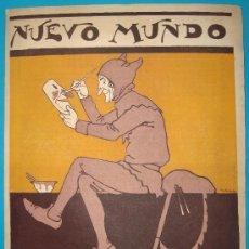 Colecionismo de cartazes: TAPA PUBLICITARIA DE LA REVISTA NUEVO MUNDO, AÑOS 20, ILUSTRACION COLOR FIRMADA. Lote 34616434