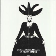 Coleccionismo de carteles: CIA TEATRO TRONO VILLEGAS TARRAGONA PROGRAMA ESPECTACLE INAUGURAL FESTA MAJOR REUS 1990. Lote 34685277