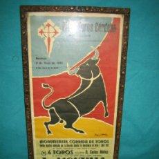 Coleccionismo de carteles: CARTEL DE INAGURACION DE LA PLAZA DE TOROS DE CORDOBA 9 MAYO 1965. MEDIDAS 49X24 CM. Lote 35214267