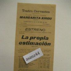 Coleccionismo de carteles: CARTEL TEATRO CERVANTES, MÁLAGA, COMPAÑÍA DRAMÁTICA EPAÑOLA MARGARITA XIRGU, AÑO 1916. . Lote 35389137