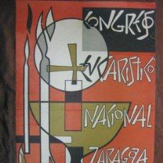 Coleccionismo de carteles: CARTEL.CONGRESO EUCARISTICO DE ZARAGOZA.1961.J.AZNAR.OCTAVIO Y FELEZ,S.L.ZARAGOZA.. Lote 35497796