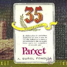 Coleccionismo de carteles: CARTEL PEQUEÑO PUBLICITARIO CAVA MANSO PARXET - 35 ANIVERSARIO - A. SUÑOL FONOLLÁ. AÑOS 50. Lote 35536151