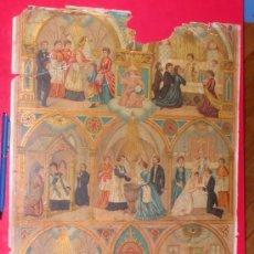Coleccionismo de carteles: LOS SIETE SANTOS SACRAMENTOS.ENSEÑANZA RELIGIÓN. LÁMINA 132. MEDIDAS 420X320MM.. Lote 35613920