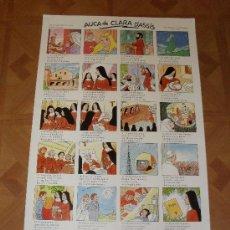 Coleccionismo de carteles: AUCA DE CLARA D' ASSÍS. DIBUIXOS PICANYOL. VIII CENTENARI DEL SEU NAIXEMENT.1193-1993.. Lote 35677000
