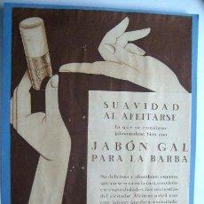 Coleccionismo de carteles: ANUNCIO ** JABON GAL ** AFEITADO PARA LA BARBA (1933). Lote 25874736