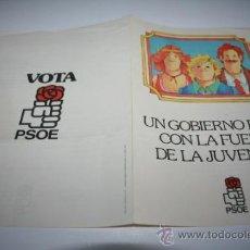 Coleccionismo de carteles: PROGRAMA POLITICO PSOE. Lote 36654076