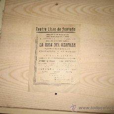 Coleccionismo de carteles: TEATRO LICEO DE SANTOÑA. CANTABRIA. SANTANDER. Lote 36735989