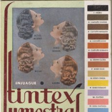 Coleccionismo de carteles: PUBLICIDAD TINTEX LUMESTRAL - COLOMER LTDA - CARTÓN DURO - 22,5 X 17 CMS. - FOTO ADICIONAL DORSO. Lote 37310352