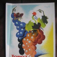 Coleccionismo de carteles: JEREZ. II FIESTA DE LA VENDIMIA. 1949. DISEÑADO POR RAMÓN (RAGA). Lote 37058639