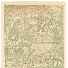 Coleccionismo de carteles: PUBLICIDAD ESPECTÁCULO CÓMICO TAURINO MUSICAL COMBINADO 76 - AÑO 1976. Lote 37676916