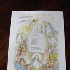 Coleccionismo de carteles: LÁMINA EL AVEMARÍA. Lote 38106436