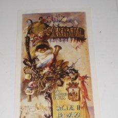 Coleccionismo de carteles: CARTEL PEQUEÑO - CARNAVAL DE CADIZ - 1984 (IMPRIME LA VOZ). Lote 118784604
