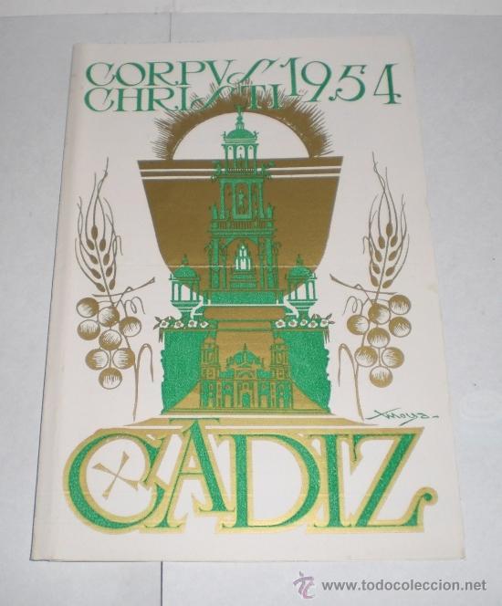 CORPUS CHRISTI, CADIZ - 1954 (Coleccionismo - Carteles Pequeño Formato)