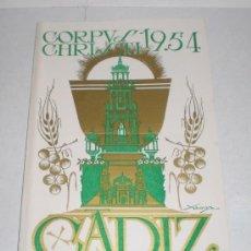 Coleccionismo de carteles: CORPUS CHRISTI, CADIZ - 1954. Lote 38349005