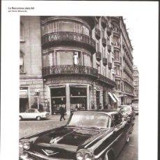 Coleccionismo de carteles: FOTO LÁMINA * LA BARCELONA DELS 60 , 1962 DIAGONAL - BALMES *. Lote 38523536
