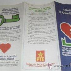 Coleccionismo de carteles: PROGRAMA O PROPAGANDA POLITICA PTE. Lote 38629220