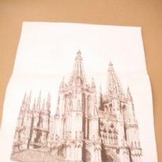 Coleccionismo de carteles: DIBUJO ANGEL BUSTILLO NAVARRO,LAMINA DE CATEDRAL DE BURGOS. Lote 39022490