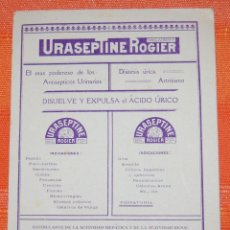 Coleccionismo de carteles: CARTEL PUBLICIDAD CARTÓN URASEPTINE ROGIER FARMACIA // AÑOS 1910. Lote 39794628