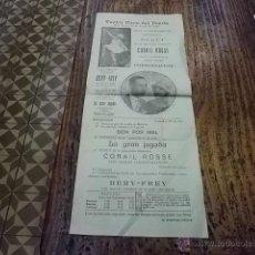 Coleccionismo de carteles: 2060.- TEATRO CIRCO DEL PUERTO-LAS PALMAS DE GRAN CANARIA-AÑO 1926. Lote 39739345