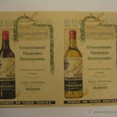 Coleccionismo de carteles: CARTEL PUBLICITARIO R. LOPEZ DE HEREDIA, VIÑA TONDONIA. Lote 35227394