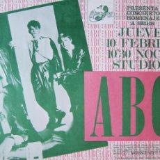 Coleccionismo de carteles: ABC. CARTEL CONCIERTO EN BARCELONA, 1983. Lote 41479408