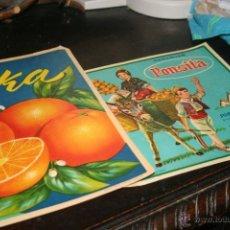 Coleccionismo de carteles: LOTE DE CARTELES PUBLICIDAD NARANJAS ANTIGUOS . Lote 41008680