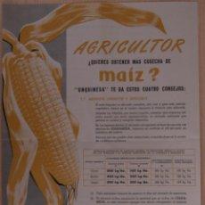 Coleccionismo de carteles: UNQUINESA PUBLICIDAD DE ABONO DE 1956 BILBAO. Lote 41323050