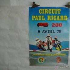 Coleccionismo de carteles: CARTEL MOTOS CIRCUIT PAUL RICARD 1978. Lote 41428867