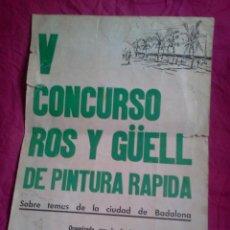 Coleccionismo de carteles: BADALONA. CARTEL DE CONCURSO DE PINTURA RÁPIDA. 1971. Lote 41488898