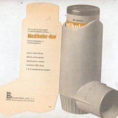 Coleccionismo de carteles: PUBLICIDAD DE MEDIHALER- DUO AEROSOL - FARMACIA - DE LABORATORIOS FHER, SA . Lote 41634655