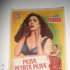 Coleccionismo de carteles: PASAMANOS DE CINE PENA PENITA PENA LOLA FLORES GRAN TEATRO DE ELCHE. Lote 41979593