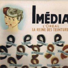 Coleccionismo de carteles: PUBLICIDAD IMÉDIA - COLORAL - L'OREAL LA REINE DES TEINTURES - 34 X 24 CMS. - . Lote 42928961