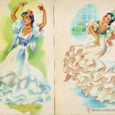 Coleccionismo de carteles: LAMINA / CARTEL - ANDALUZA / SEVILLANA - JUEGO DE 2 - IL. SOLE - VER FOTO - AÑOS 50 / 60 - RD4. Lote 43284506