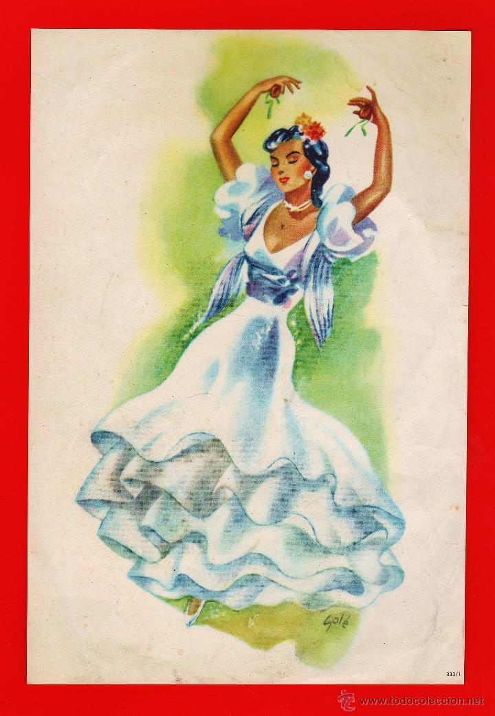 Coleccionismo de carteles: lamina / cartel - andaluza / sevillana - juego de 2 - il. sole - ver foto - años 50 / 60 - rd4 - Foto 2 - 43284506