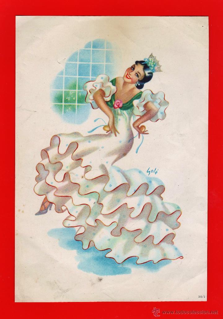 Coleccionismo de carteles: lamina / cartel - andaluza / sevillana - juego de 2 - il. sole - ver foto - años 50 / 60 - rd4 - Foto 3 - 43284506