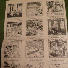 Coleccionismo de carteles: F 3177 AUCA PROPAGANDA GRAN URBANIZACIÓN BELLA TERRA ESTACIO FERROCARRIL FOMENTO DE LA VIVIENDA 1959. Lote 43367576