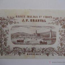 Coleccionismo de carteles: CARTEL PASAS DE MÁLAGA J. V. GRANVAL. LIT. DELVAILLE.. Lote 43470472